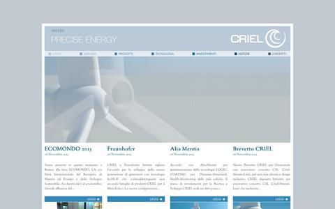 Screenshot of Home Page criel.eu - Criel Official Website - captured Oct. 1, 2014