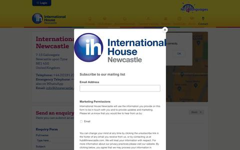 Screenshot of Contact Page ihnewcastle.com - International House Newcastle | International House Newcastle - captured Oct. 12, 2018