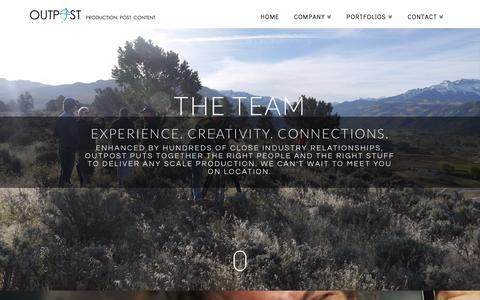 Screenshot of Team Page outpostworldwide.com - TEAM - Outpost Worldwide - captured Nov. 30, 2016