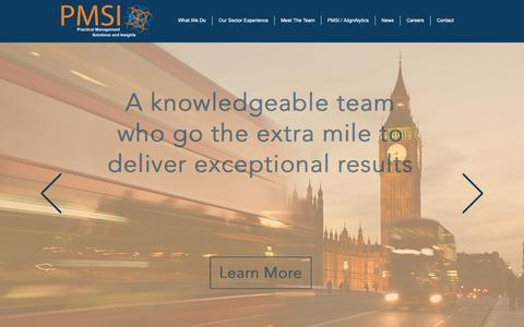 Screenshot of Home Page pmsi-consulting.com - PMSI | Strategy consulting - captured Dec. 7, 2018