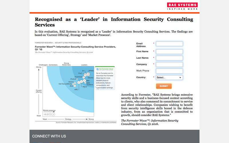 BAE Systems named in Gartner Magic Quadrant for Managed Security Services, Worldwide