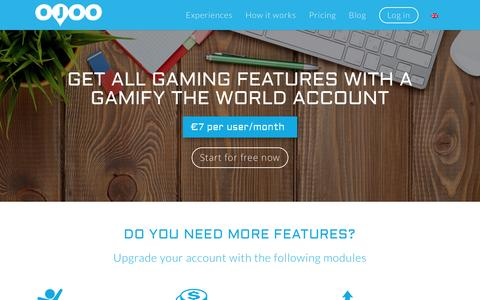 Screenshot of Pricing Page ojoo.com - OJOO Pricing - Gamify the world account - captured Aug. 15, 2016