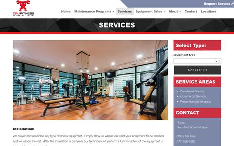 Screenshot of Services Page califitness.com - Services - Califitness - captured Sept. 26, 2018