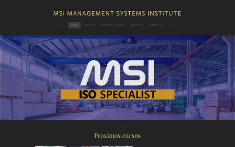 Screenshot of Home Page msiisos.com - MSI MANAGEMENT SYSTEMS INSTITUTE - Home - captured Nov. 12, 2018