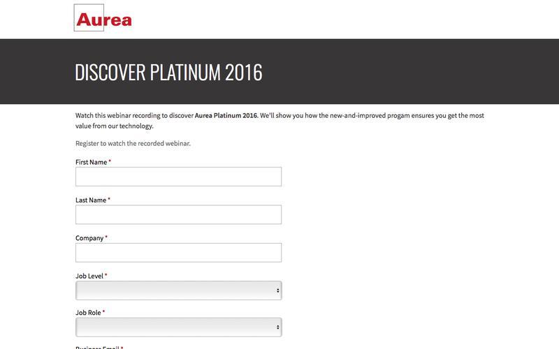 Recorded Webinar: Aurea Platinum 2016 | Aurea