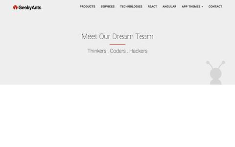 Screenshot of Team Page geekyants.com - GeekyAnts - Team - captured May 6, 2017