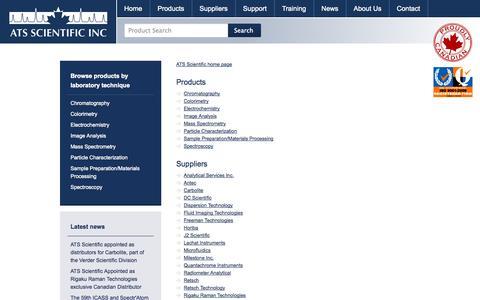 Screenshot of Site Map Page ats-scientific.com - Sitemap | ATS Scientific - captured Sept. 30, 2014