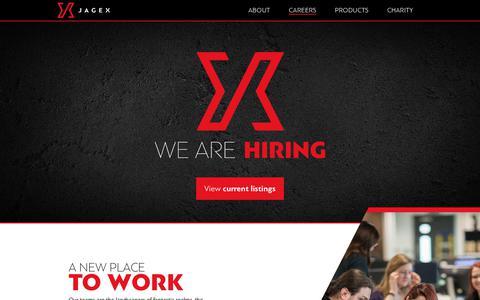 Screenshot of Jobs Page jagex.com - Careers - Jagex - Careers - captured July 11, 2017
