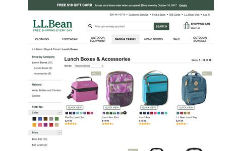 Lunch Boxes & Accessories | Free Shipping at L.L.Bean