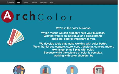 Screenshot of Home Page archcolor.com - Archcolor - captured Dec. 26, 2015