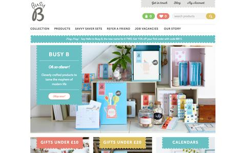 Screenshot of Home Page busyb.co.uk - Calendars, Diaries & Luxury Stationery from Busy B  - Busy B - captured Sept. 23, 2014