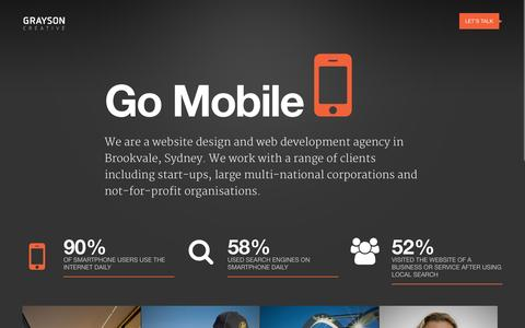 Screenshot of Services Page graysoncreative.com.au - Website Designers Sydney, Responsive Website Design Brookvale Northern Beaches - captured Oct. 20, 2015