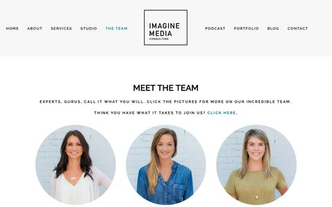 Screenshot of Team Page imaginemediaconsulting.com - MEET THE TEAM — Atlanta Social Media Company - - captured Feb. 17, 2019