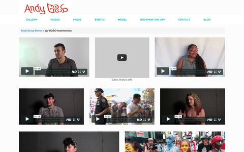 Screenshot of Testimonials Page andygolub.com - ag-VIDEO-testimonials | Andy Golub - captured May 17, 2016