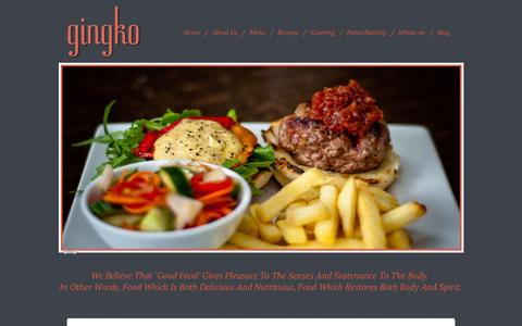 Screenshot of Home Page gingko.co.za - Gingko restaurant - passionate about delicious, nutritious food. - captured Dec. 9, 2015