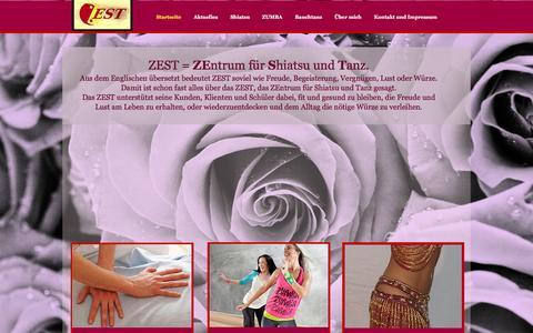 Screenshot of Home Page zest-alzenau.de - ZEST-Alzenau. Zentrum für Shiatsu und Tanz - captured March 11, 2016