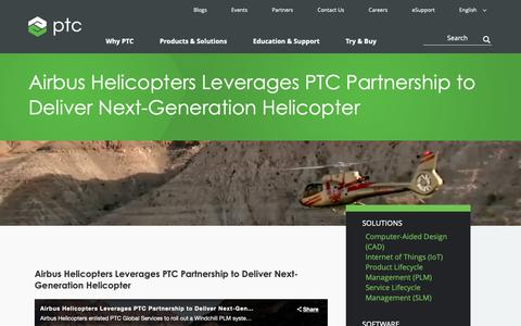 Screenshot of Case Studies Page ptc.com - Airbus Helicopters Leverages PTC Partnership to Deliver Next-Generation Helicopter | PTC - captured Nov. 13, 2018