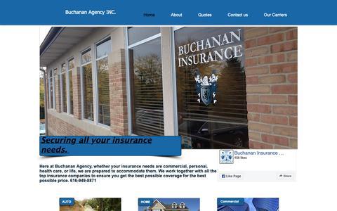 Screenshot of Home Page buchins.com - Insurance | United States | Buchanan Insurance Agency, Inc. - captured Oct. 6, 2018