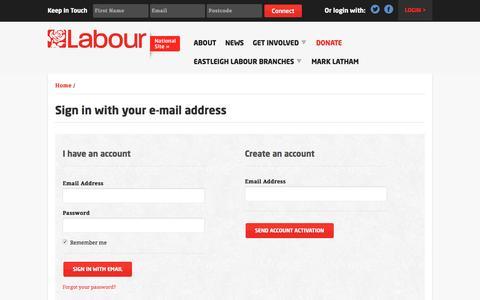 Screenshot of Login Page nationbuilder.com - Sign in - captured June 18, 2016