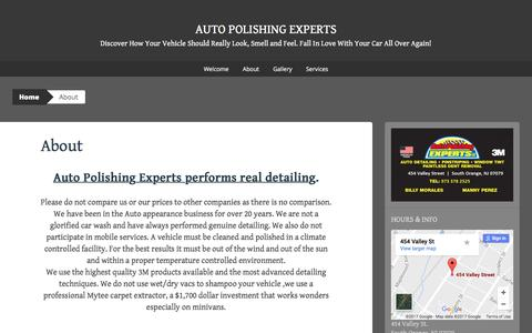 Screenshot of About Page wordpress.com - About   Auto Polishing Experts - captured March 2, 2017