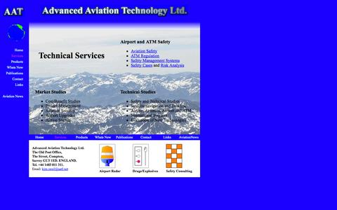 Screenshot of Services Page aatl.net - Services - captured Oct. 4, 2014