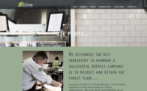Screenshot of Team Page olive-catering.com - Our People | Olive Catering Services - captured Oct. 18, 2018