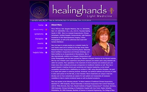 Screenshot of About Page abouthealinghands.com - Healing Hands - captured June 19, 2016