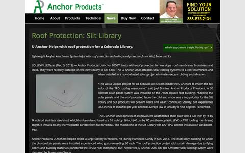 Screenshot of Press Page anchorp.com - News & Updates Archives - Anchor Products - captured Oct. 4, 2014
