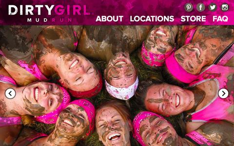 Screenshot of Home Page godirtygirl.com - Dirty Girl Mud Run | The Dirty Girl Mud Run is an all-female obstacle run! - captured Sept. 11, 2015