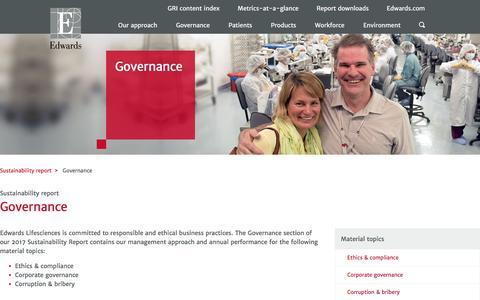 Governance – Edwards – Sustainability