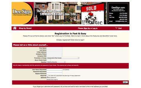 Screenshot of Signup Page deesign.com - Registration at DEESIGN - captured Sept. 23, 2014