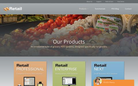 Screenshot of Products Page itretail.com - Supermarket Software | Grocery POS | IT Retail - captured June 7, 2017