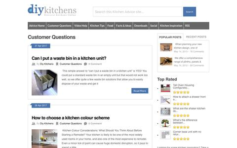 Screenshot of FAQ Page diy-kitchens.com - Customer Questions Archives - DIY Kitchens - Advice - captured April 27, 2017