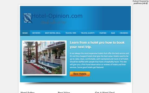 Screenshot of Home Page hotel-opinion.com - Hotel | Hotel Reviews | Hotel Deals | Hotel Opinion - captured Nov. 14, 2016