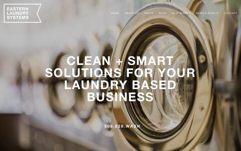 Screenshot of Home Page elsequip.com - Eastern Laundry Systems - captured Oct. 1, 2014