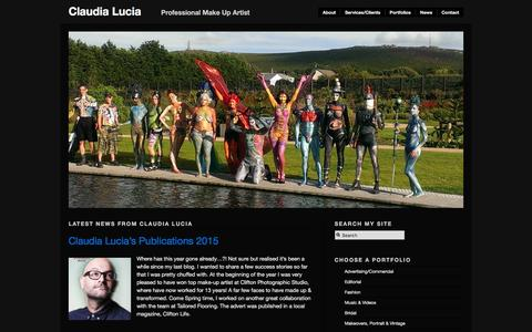 Screenshot of Home Page claudialucia.com - Bristol Bath Makeup Artist - Weddings, Makeovers, Editorial, Fashion, Advertising... - captured Jan. 28, 2016