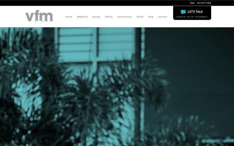 Screenshot of About Page vfmpropertyadvisors.com.au - VFM Property Advisors | Real Estate Experts Gold Coast - captured Oct. 29, 2014