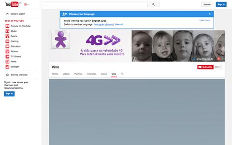 Screenshot of YouTube Page youtube.com - Vivo  - YouTube - captured Oct. 30, 2014