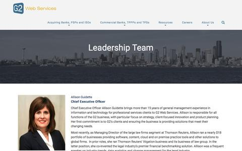Screenshot of Team Page g2webservices.com - Management | G2 Web Services - captured July 3, 2015