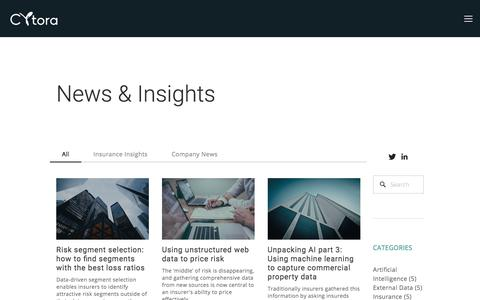 News & Insights — Cytora | Data Analytics for Commercial Insurance