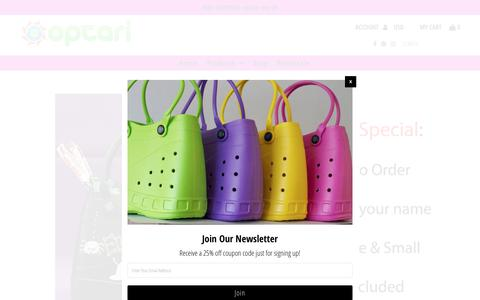 Screenshot of Home Page optari.com - Optari - Home of the Sol Tote & Other Fun Products - captured Oct. 18, 2018