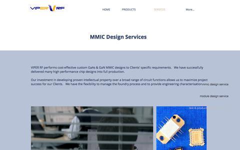 Screenshot of Services Page viper-rf.com - www.viper-rf.com/services - captured June 13, 2017
