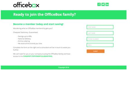 Screenshot of Signup Page officebox.co.za - Sign Up - captured Feb. 13, 2016
