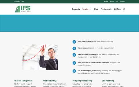 Screenshot of Services Page ifsforhomehealth.com - Services - Innovative Financial Solutions for Home Health - captured July 6, 2017