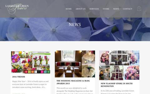 Screenshot of Press Page lavendergreen.co.uk - News - Lavender Green - captured Jan. 26, 2016
