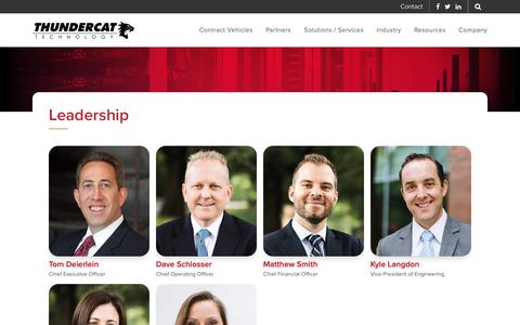 Screenshot of Team Page thundercattech.com - Leadership - ThunderCat Technology - captured Nov. 13, 2018