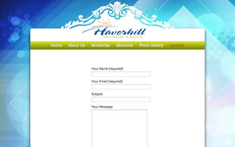 Screenshot of Contact Page haverhillchristian.org - Contact «  Haverhill Christian Church - captured Oct. 2, 2014