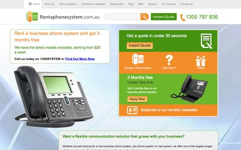 Screenshot of Home Page rentaphonesystem.com.au - Best PBX & Business Phone Systems for Small Business - captured Aug. 5, 2015