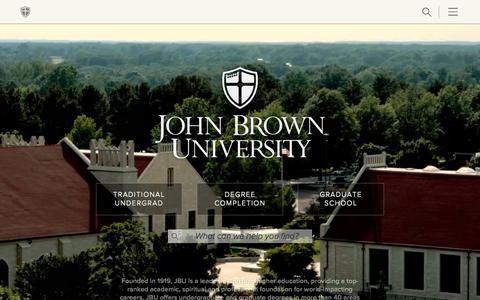 Screenshot of Home Page jbu.edu - John Brown University - A Private Christian College - captured Oct. 2, 2015