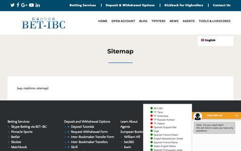 Screenshot of Site Map Page bet-ibc.com - Sitemap - BET-IBC - captured Nov. 6, 2018